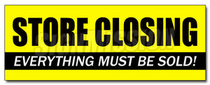 Store closing Decal