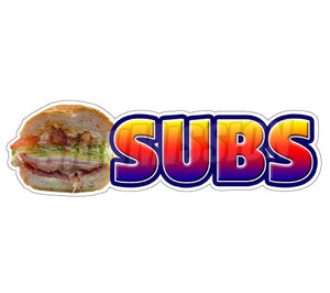 Subs Die Cut Decal