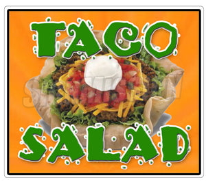 Taco Salad Die Cut Decal