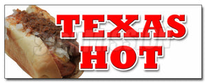 Texas Hot Decal