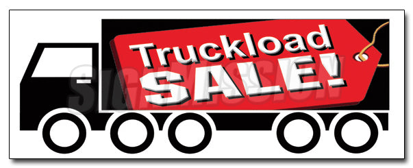 Truckload Sale Decal