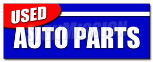 Used Auto Parts Decal