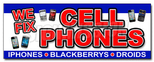 We Fix Cell Phones Decal