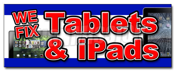 We Fix Tablets & Ipads Decal