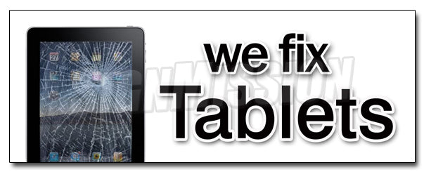 We Fix Tablets Decal