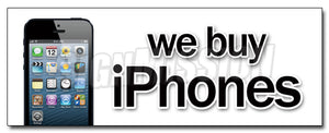 We Buy iPhones Decal