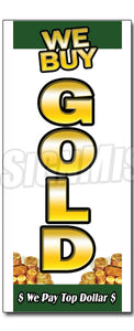 We Buy Gold 1 Vertical Decal