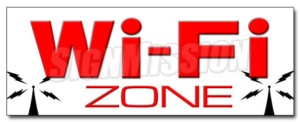 Wifi Zone Decal