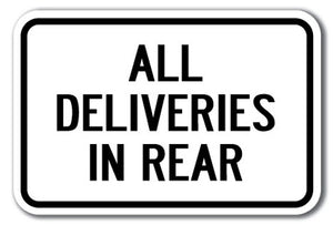 All Deliveries In Rear
