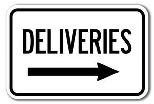 Deliveries with right arrow