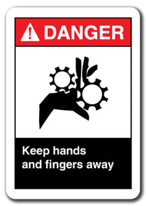 Danger Sign - Keep Hands And Fingers Away