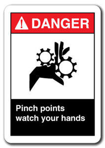 Danger Sign - Pinch Points Watch Your Hands
