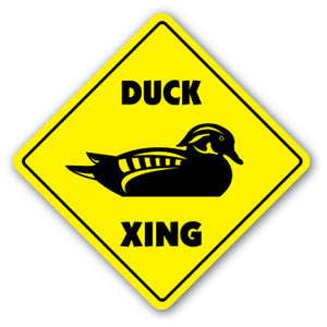 DUCK CROSSING Sign new xing hunter ducks animal gift hunting geese shotgun gun