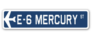 E-6 Mercury Street Vinyl Decal Sticker