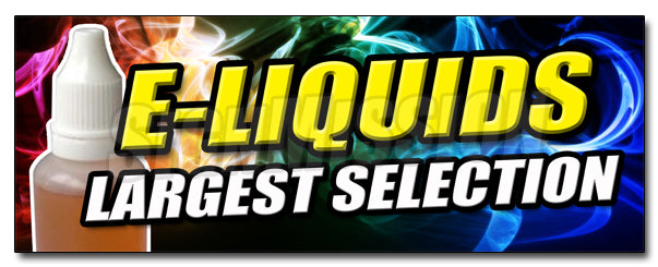 E-Liquids Largest Select Decal