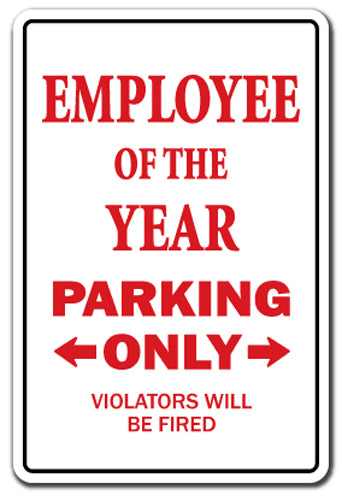 Employee Of The Year Vinyl Decal Sticker