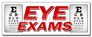 Eye Exams Decal