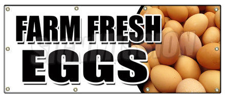 Farm Fresh Eggs Banner