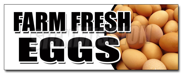 Farm Fresh Eggs Decal