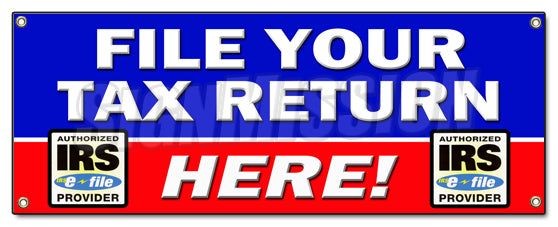 File Your Tax Return Here Banner