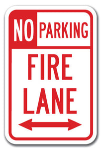 No Parking Fire Lane with double arrow 1