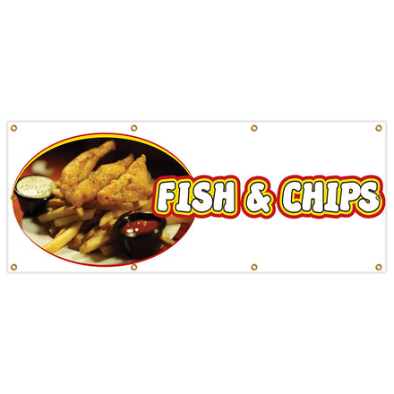 Fish And Chips Banner