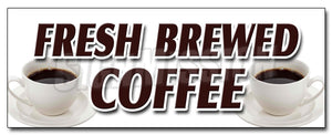 Fresh Brewed Coffee Decal