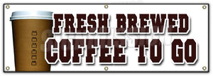 Fresh Brewed Coffee To G Banner