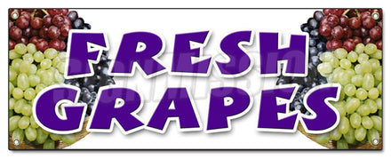 Fresh Grapes Banner