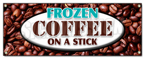 Frozen Coffee On A Stick Banner