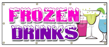 Frozen Drinks Banner