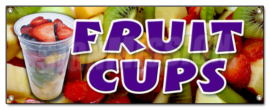 Fruit Cups Banner