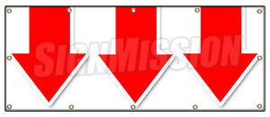 Giant Down Arrow Banner