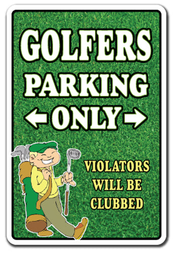 Golfers Only Vinyl Decal Sticker