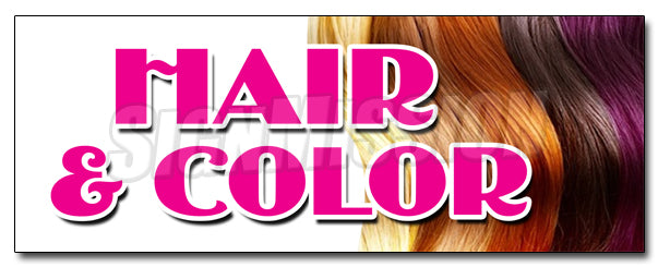 Hair & Color Decal