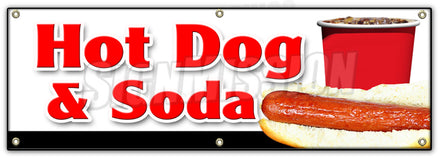Hot Dogs & Soda Combo Banner