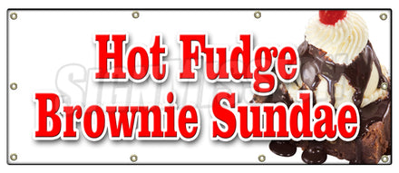 Hot Fudge Brownie Sundae Banner