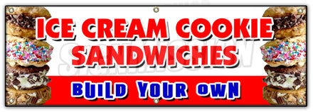 Ice Cream Cookie Sandwic Banner