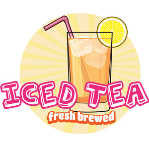 Iced Tea Die Cut Decal