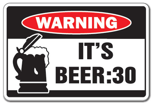 It's Beer 30 Vinyl Decal Sticker