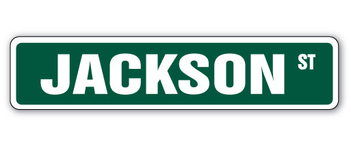 Jackson Street Vinyl Decal Sticker