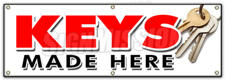 Keys Made Here Banner