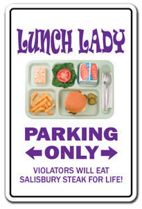 Lunch Lady Vinyl Decal Sticker