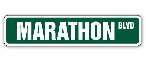 Marathon Street Vinyl Decal Sticker