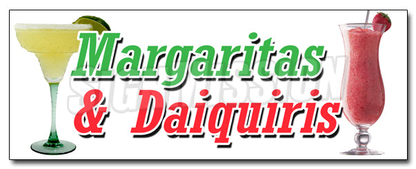 Margarita & Daiquiris Decal