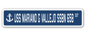 USS Mariano G Vallejo Ssbn 658 Street Vinyl Decal Sticker