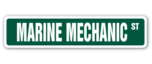 Marine Mechanic Street Vinyl Decal Sticker