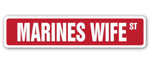 Marines Wife Street Vinyl Decal Sticker