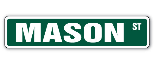 Mason Street Vinyl Decal Sticker