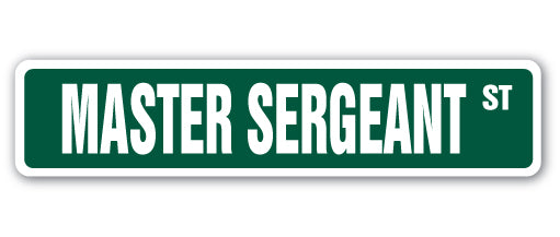 Master Sergeant Street Vinyl Decal Sticker
